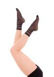 Elegant female legs in socks Royalty Free Stock Photos