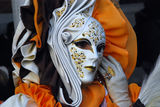 Elegant female mask. Carnival in Venice. Royalty Free Stock Photography