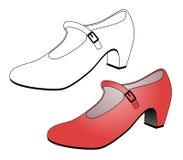 Elegant female shoe. Creative draw of elegant female shoe Royalty Free Stock Photo