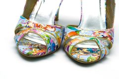 Elegant female shoes Stock Image