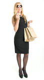 Elegant female shopper Royalty Free Stock Photo