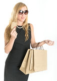 Elegant female shopper Stock Photo