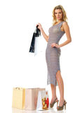 Elegant female with shopping bags Royalty Free Stock Image