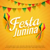 Elegant festa junina poster holiday greeting. Vector Royalty Free Stock Photos