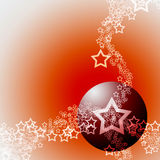 Elegant Festive Abstract Hot Theme. Festive Abstract Elegant Ornament Hot Theme with Red Bauble Ball and White Lacy Stars Royalty Free Stock Image