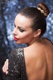 Elegant festive brunette. Royalty Free Stock Images
