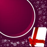 Elegant festive red background with a circular ribbon and white box with room for text. Vector Royalty Free Stock Image