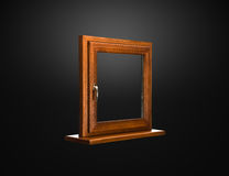 Elegant fiberglass window with oak coverage Stock Photography