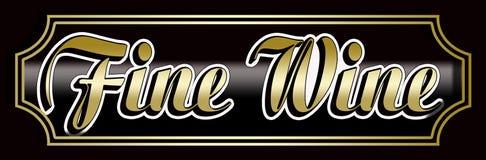 Elegant Fine Wine Banner. Fine Wine sign label Elegant frame Stock Image