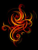 Elegant fire flames Stock Image