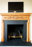 Elegant fire place Stock Photos
