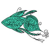 Elegant Fish Logo Vector Illustration eps10 Stock Image