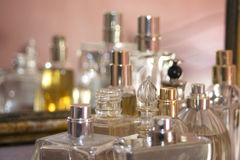 Elegant flagrance and perfumes Royalty Free Stock Images