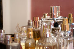 Elegant flagrance and perfumes Stock Photography