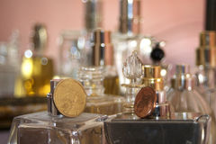 Elegant flagrance and perfumes Stock Photos