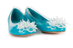 Elegant flat shoes Stock Photography