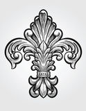 Elegant Fleur de Lis. Vector Illustration Stock Images