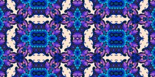 Elegant floral abstract seamless pattern. Vector background.  Royalty Free Stock Photography