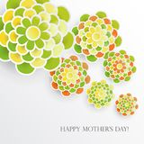 Elegant floral background with 3d paper flowers. And place for text. Spring floral greeting card. Origami trendy design template. Paper cut spring flower vector illustration