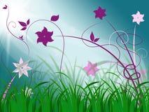 Elegant Floral Background Means Spring Season Or Botanical Decor Stock Photo