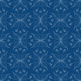 Elegant floral background, seamless vector pattern. Cozy stylish floral background with barely visible lines in blue, seamless vector pattern website or spring Stock Images