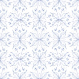Elegant floral background, seamless vector pattern. Elegant stylish floral background with barely visible lines in blue, seamless vector pattern website or Royalty Free Stock Photo
