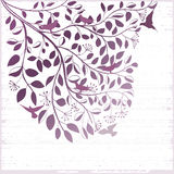 Elegant floral background with tree and birds Royalty Free Stock Image