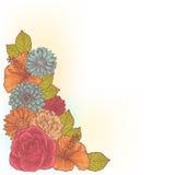 Elegant floral corner card Stock Image