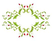 Elegant floral design. Artwork, ink and watercolors on paper Royalty Free Stock Photo