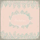 Elegant floral design. Can be used as wedding invitation. Pastel colors. Stock Photography