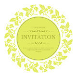 Elegant floral festive invitation design in classic style. Vector template for greeting cards, posters, coves or packaging Royalty Free Stock Photos