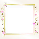 Elegant Floral Frame Royalty Free Stock Photography