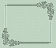 Elegant floral frame Stock Images