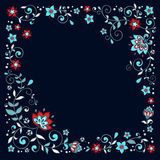 Elegant floral frame. Can be used for shawl. EPS8 vector illustration Royalty Free Stock Image