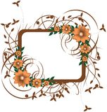Elegant Floral frame isolated Stock Images