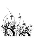 Elegant floral garden. Artwork on white background royalty free illustration