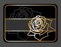 Elegant floral gift card Royalty Free Stock Photos