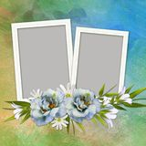 Elegant Floral greeting card Royalty Free Stock Image