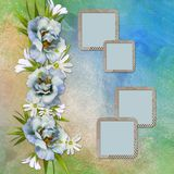 Elegant Floral greeting card Royalty Free Stock Photo