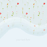 Elegant floral greeting card for wedding or birthday with copy space Stock Image