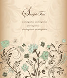 Elegant Floral Invitation card Stock Photography