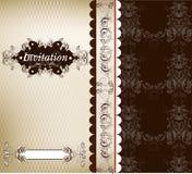 Elegant floral invitation card or menu design Stock Photo