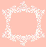 Elegant floral lace vector design Royalty Free Stock Photography