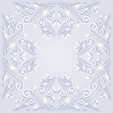 Elegant floral ornamental background in paper cut stile Royalty Free Stock Photo