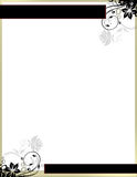 Elegant Floral Page Border Template Stock Photo