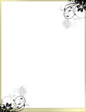 Elegant Floral Page Border Template no header Stock Image