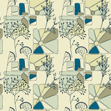 Elegant floral retro seamless pattern Royalty Free Stock Images