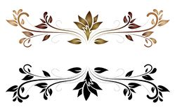 Elegant Floral Scroll Vector stock photography