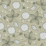 Elegant Floral Seamless Background Royalty Free Stock Photography