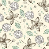 Elegant floral seamless background Stock Photos